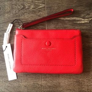 Marc Jacobs Empire City Leather Wristlet NWT